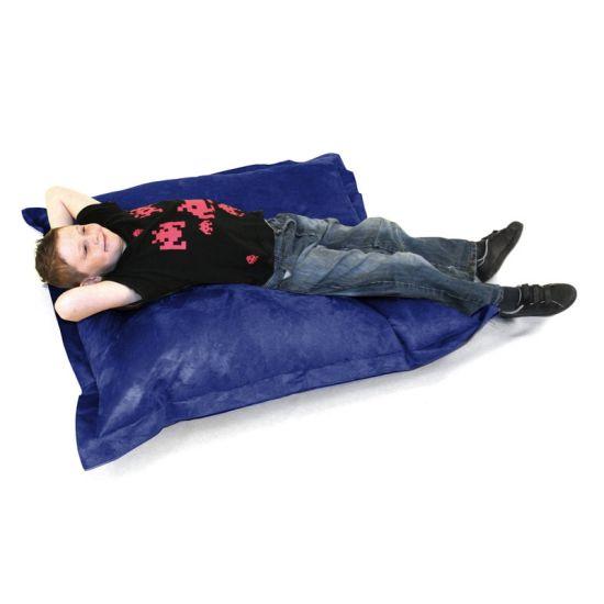 Kids Faux Leather Oxford Cushion Bean Bag