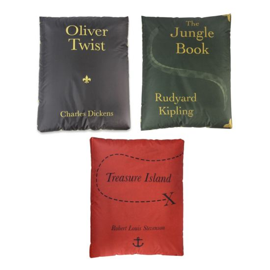 Classic Primary Book Bean Bags - Pack of 3 (Set 2)