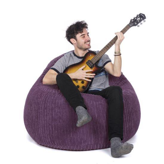 Corduroy Bean Bag Chair - Purple