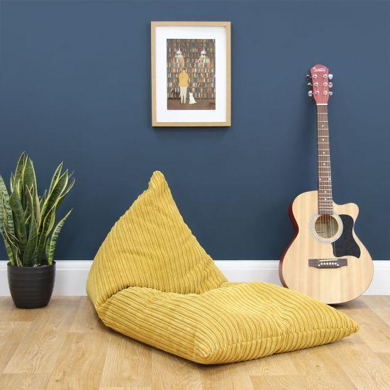 Corduroy Deck Chair Bean Bag - Mustard