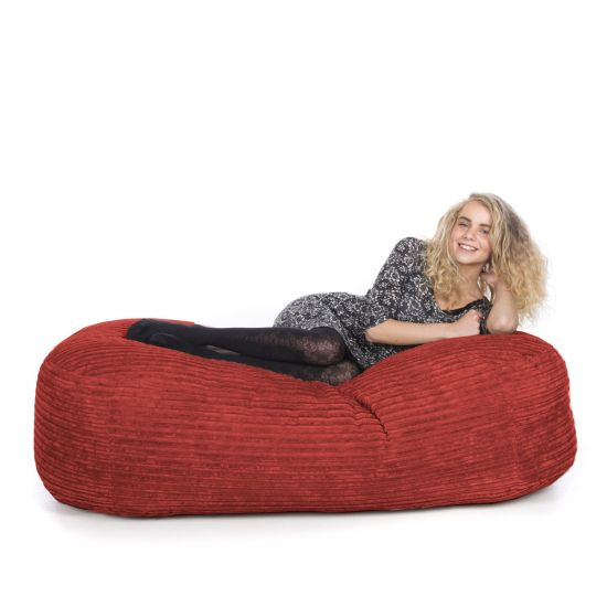 Corduroy Lounger Bean Bag - Red