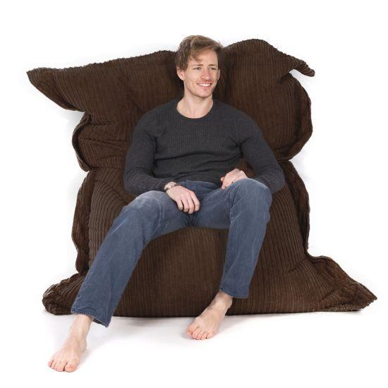 Corduroy Oxford Cushion Bean Bag - Chocolate Brown