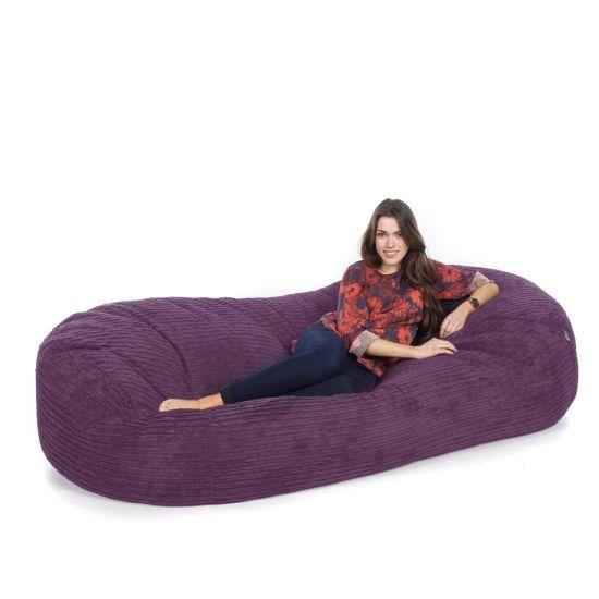 Corduroy Sofa Bed Bean Bag - Purple
