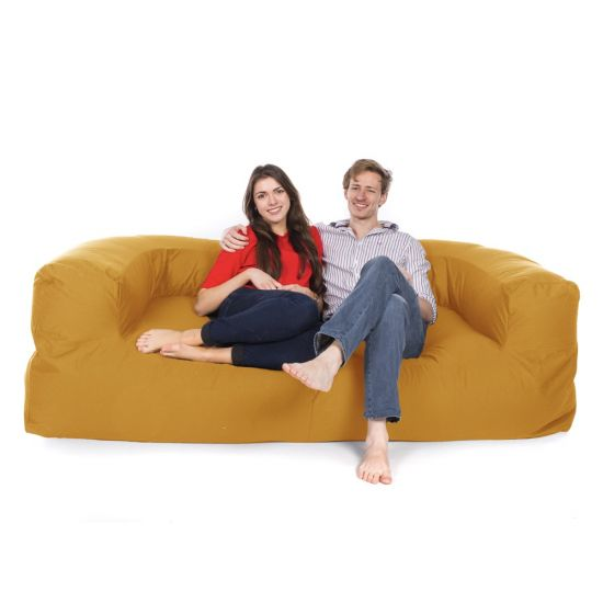 Cotton Couch Bean Bag - Sunflower Yellow