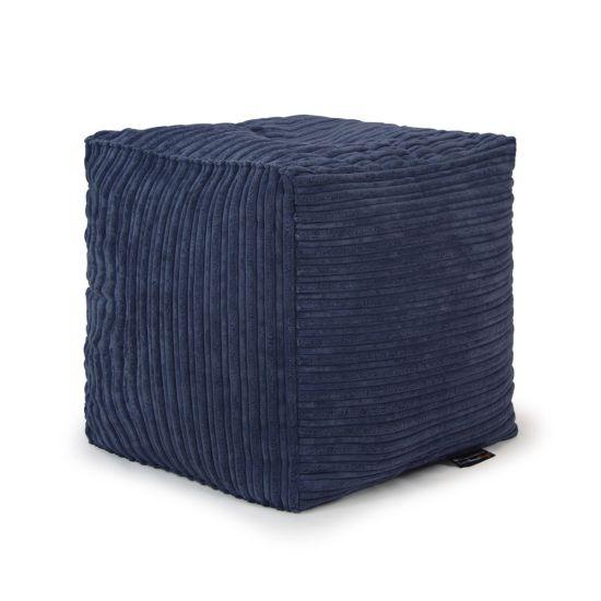 Corduroy Cube Bean Bag - Slate Blue