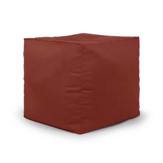 Cotton Cube Bean Bag - Terracotta (Side)