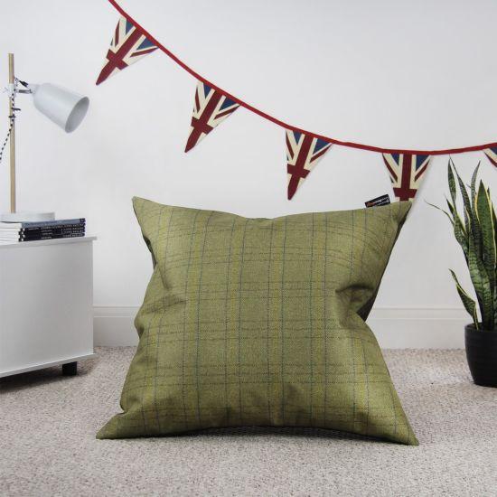 Designer Tartan Cushion Bean Bag - lamp