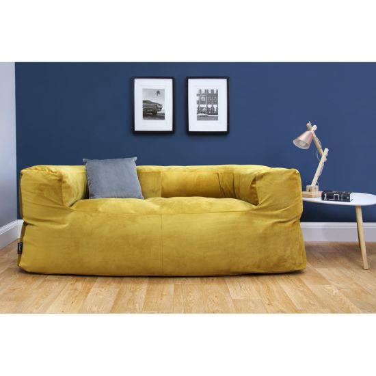Designer Velvet Couch Bean Bag