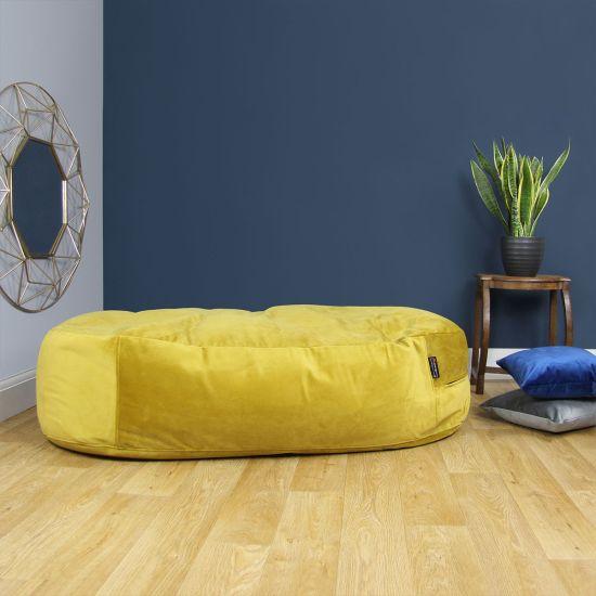 Designer Velvet Lounger Bean Bag