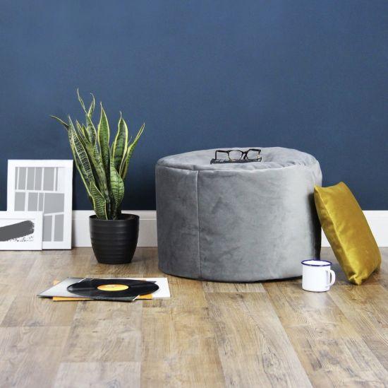 Designer Velvet Stool Bean Bag