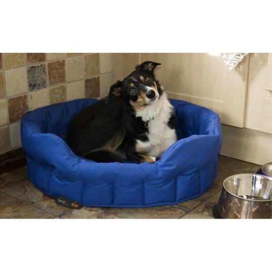 Large Dog Bed Basket - Royal Blue
