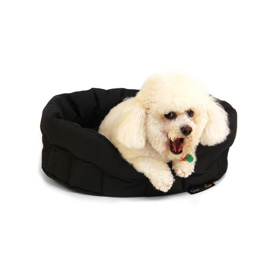 Small Dog Bed Basket - Black