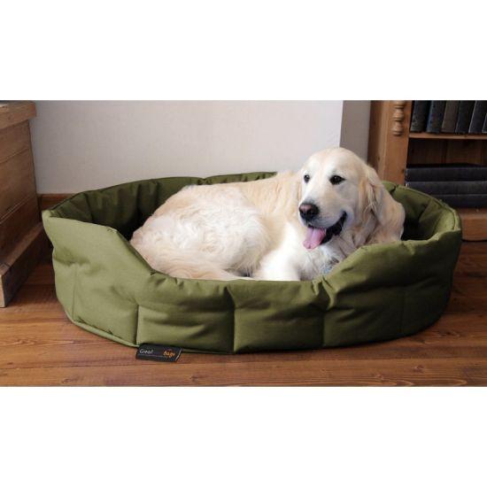XL Dog Bed Basket - Olive Green