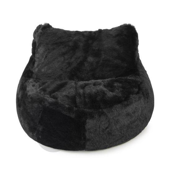Faux Fur Seat Bean Bag - Panther