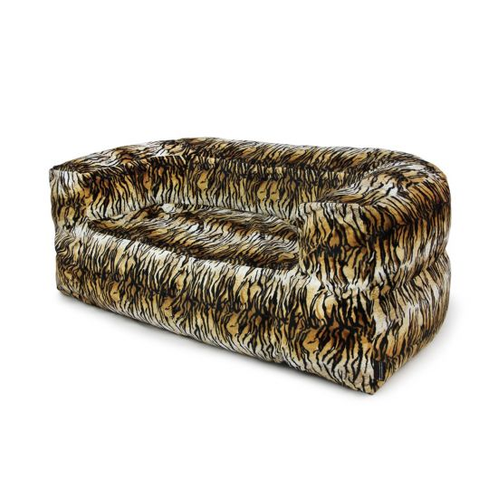 Faux Fur Couch Bean Bag - Side