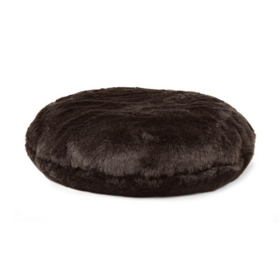 Faux Fur Cushion Bean Bag - Brown Bear
