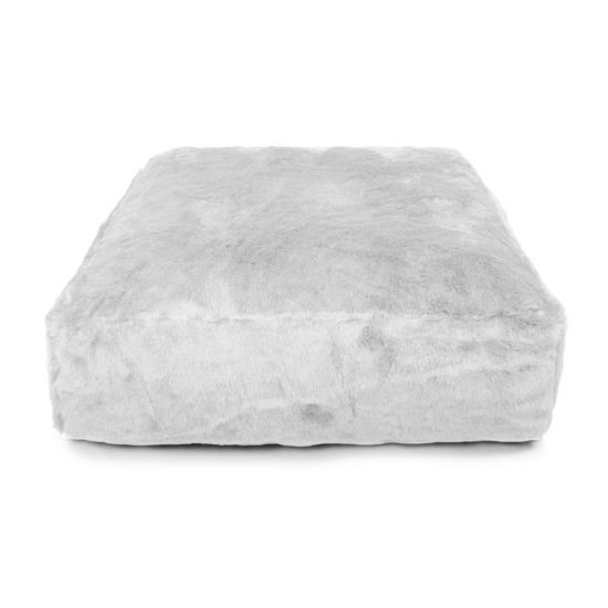 Faux Fur Square Bean Bag - Arctic Fox