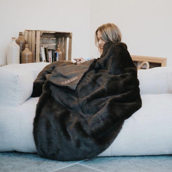 Faux Fur Throw - girl