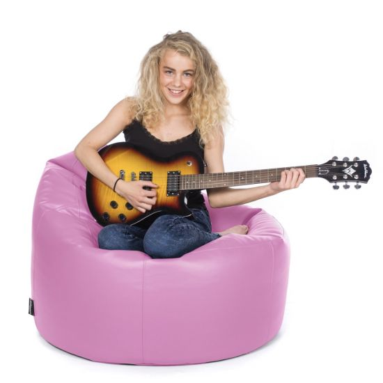 Faux Leather Bean Bag Chair - Pink