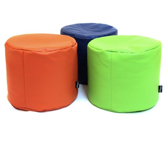 Faux Leather Stool Bean Bag