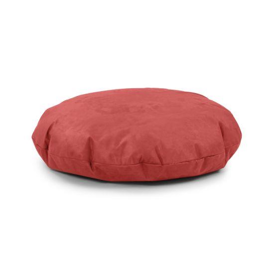 Faux Suede Cushion Bean Bag - Round - Raspberry