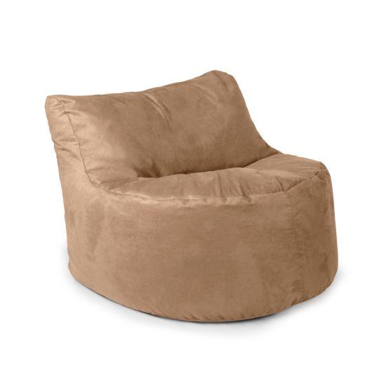 Faux Suede Seat Bean Bag - Caramel