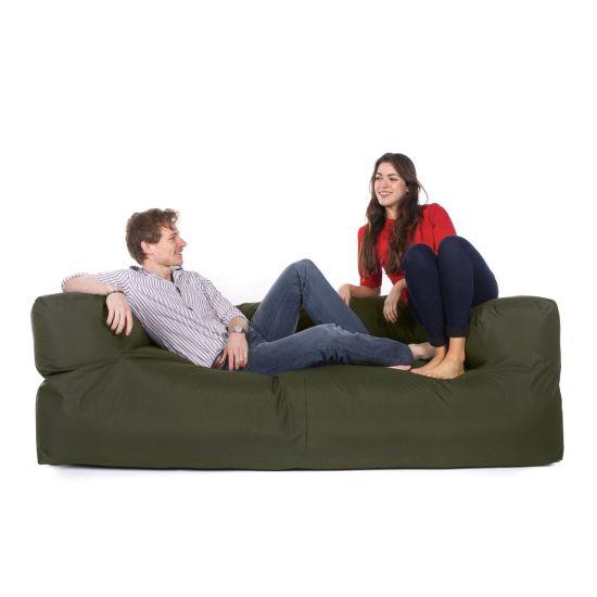 Indoor/Outdoor Couch Bean Bag - Olive Green