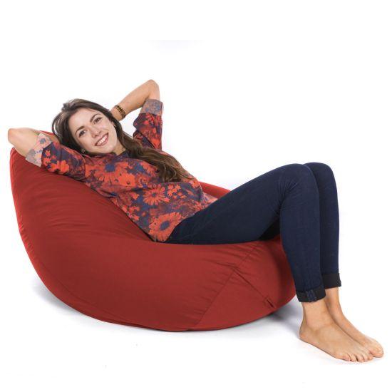 Indoor/Outdoor Hi-Back Gamer Bean Bag - Red