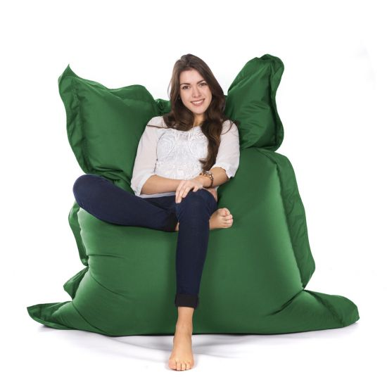 Indoor/Outdoor Oxford Cushion Bean Bag - Forest Green