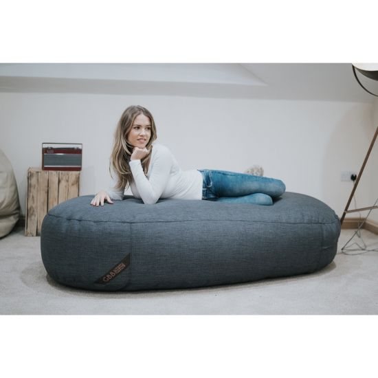 Luxury Chenille Lounger Bean Bag - Charcoal