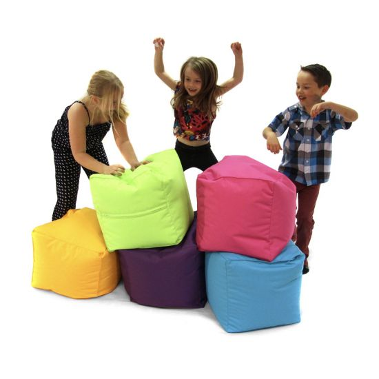 Primary Cube Bean Bag - Kids Playing