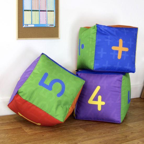 Primary Maths Cube Bean Bags