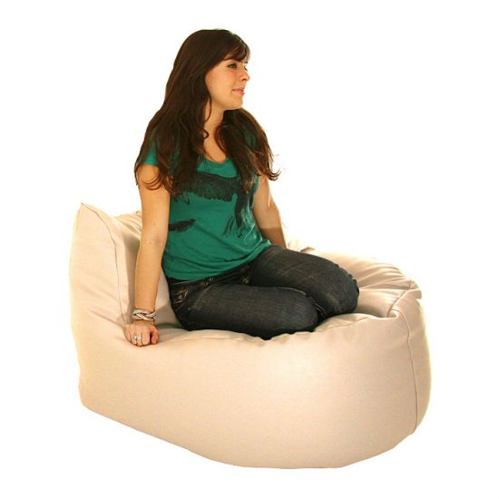 Real Leather Seat Bean Bag