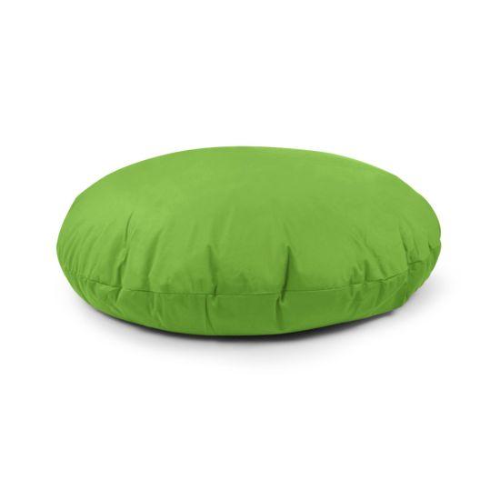Cotton Cushion Bean Bag - Round - Lime Green