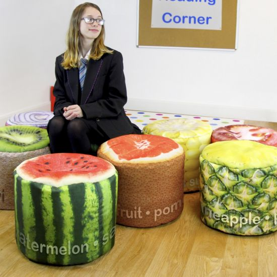 Secondary Fruit and Vegetable Stool Bean Bags - Pack of 8