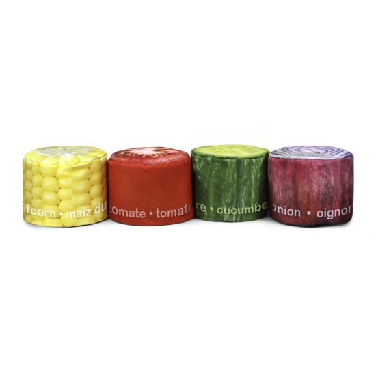Secondary Vegetable Stool Bean Bags - Pack of 4