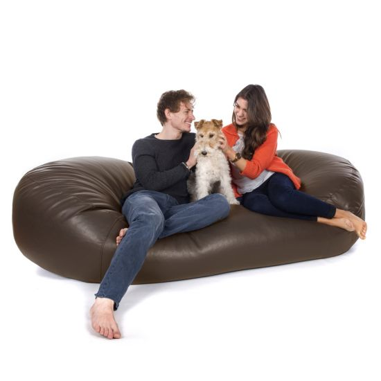 Real Leather Sofa Bed Bean Bag - Dog