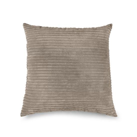 Corduroy Cushion Bean Bag - Square - Sand, Top