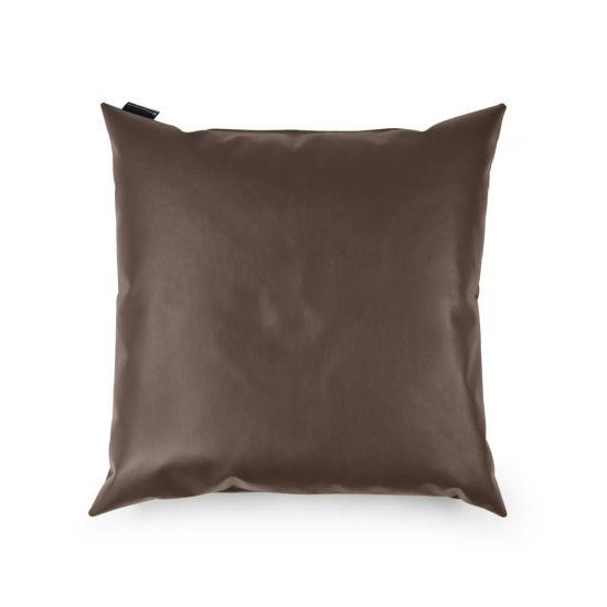 Faux Leather Cushion Bean Bag - Square - Chocolate Brown, Top